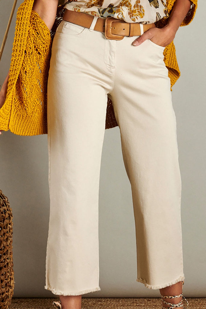 Beige Wide Trousers