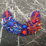 Small Collar - Blue & Red