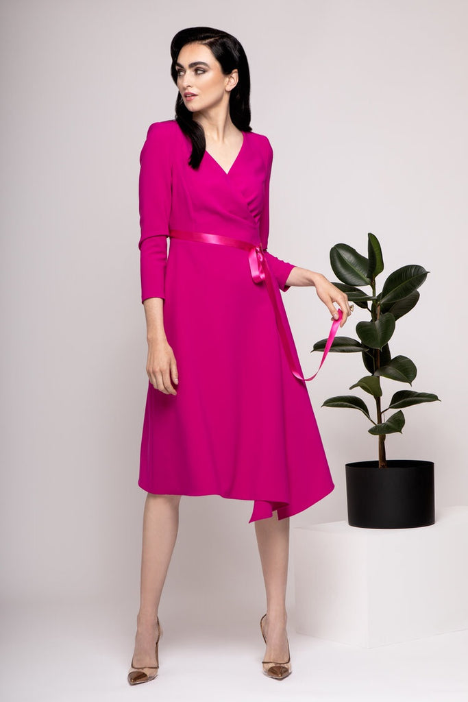 Victoria Dress in Cerise