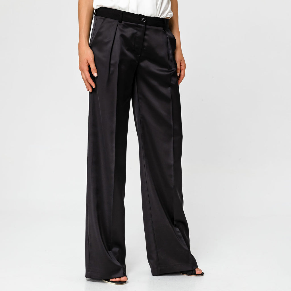 Satin Wide Leg Trouser 5002