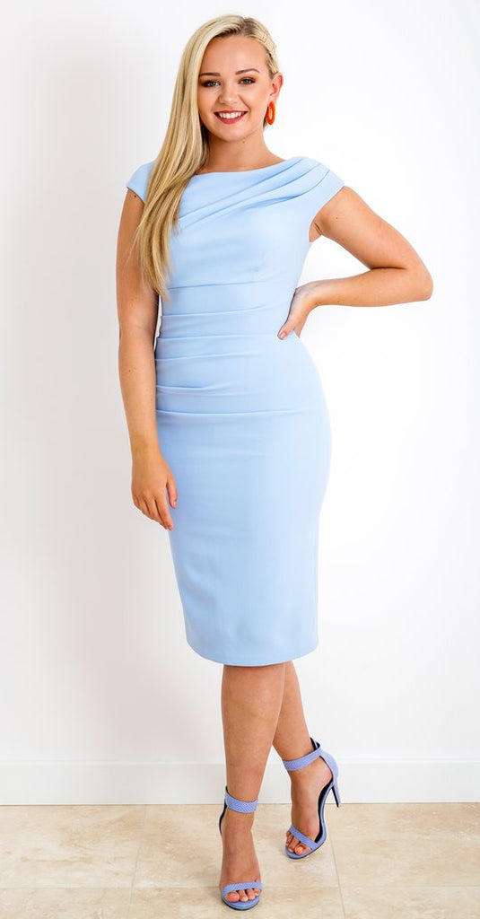 Brigitte Dress in Sky Blue