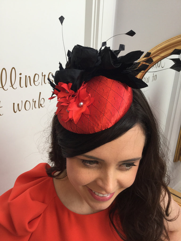 red black headpiece