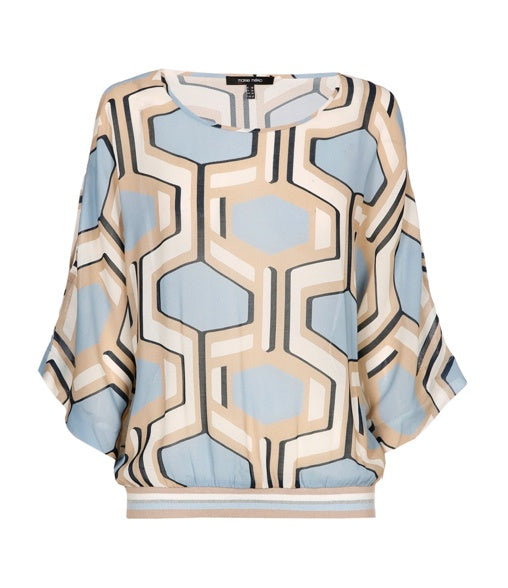 Blouse with Geometrical Print