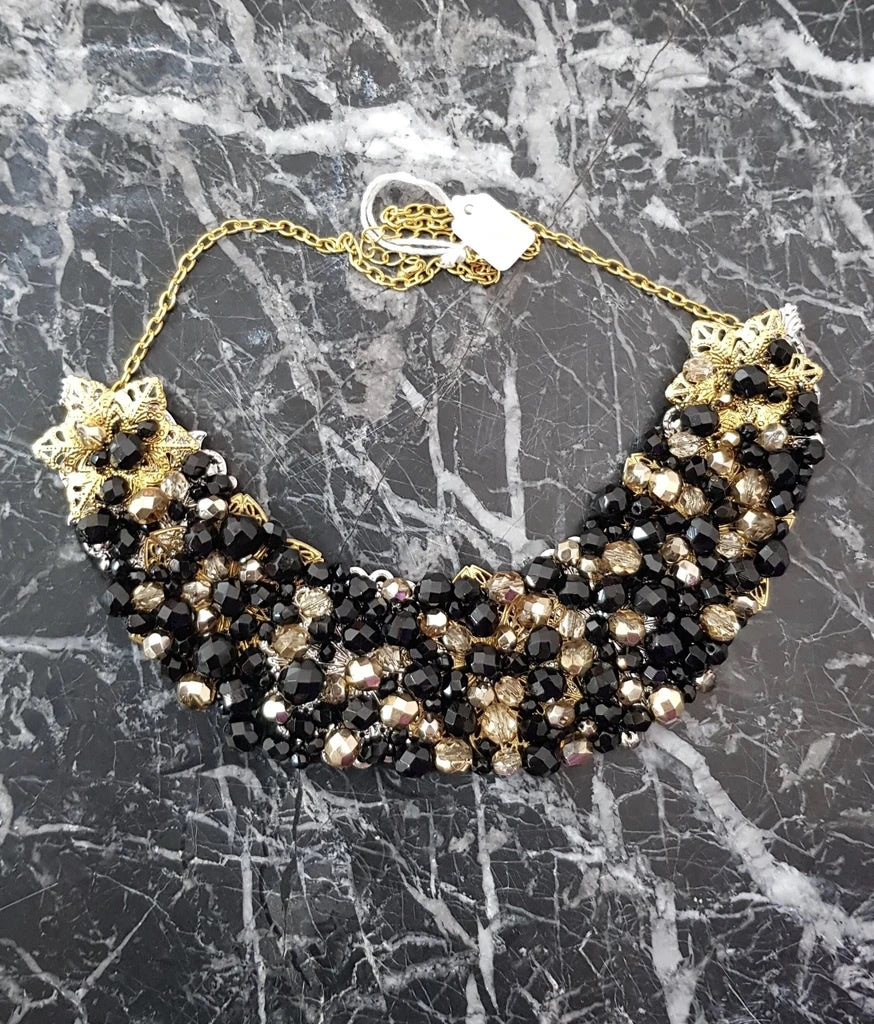 Small Collar - Black & Gold