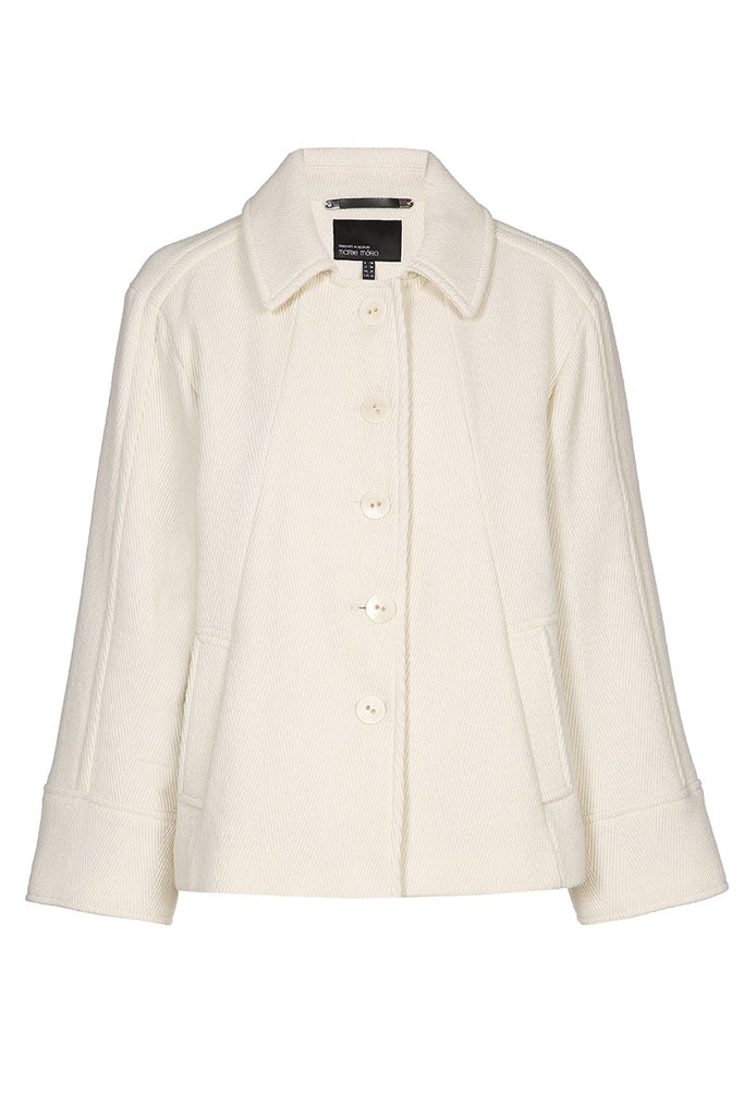 Ivory Short Wool Coat