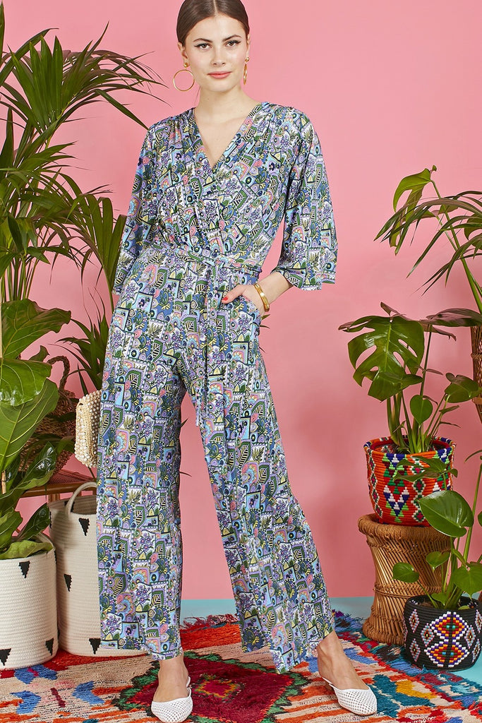 Laurie Jumpsuit  in Cybele Turquoise