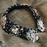 Large Collar - Black & Rose Gold