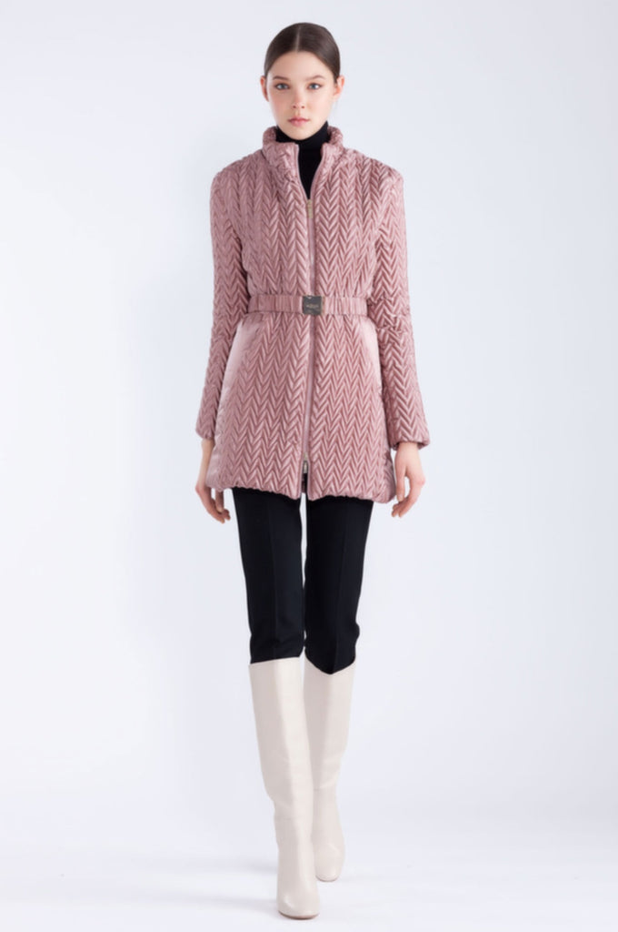 Retro Bubble  Crepe Coat