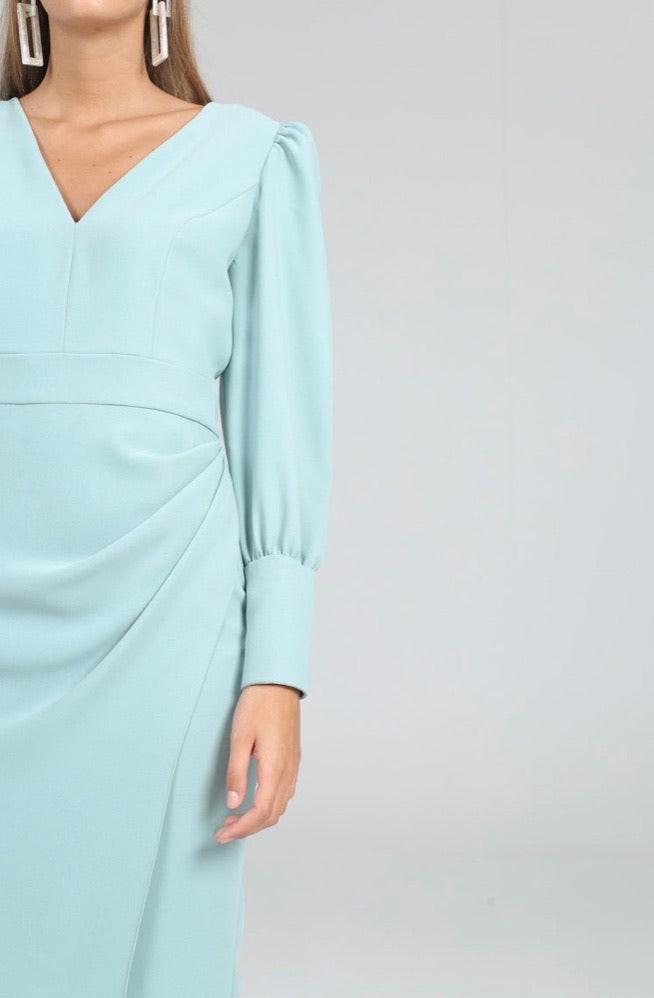 Pammy Dress in Aqua
