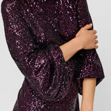 Sequinned Dress Balloon Sleeves