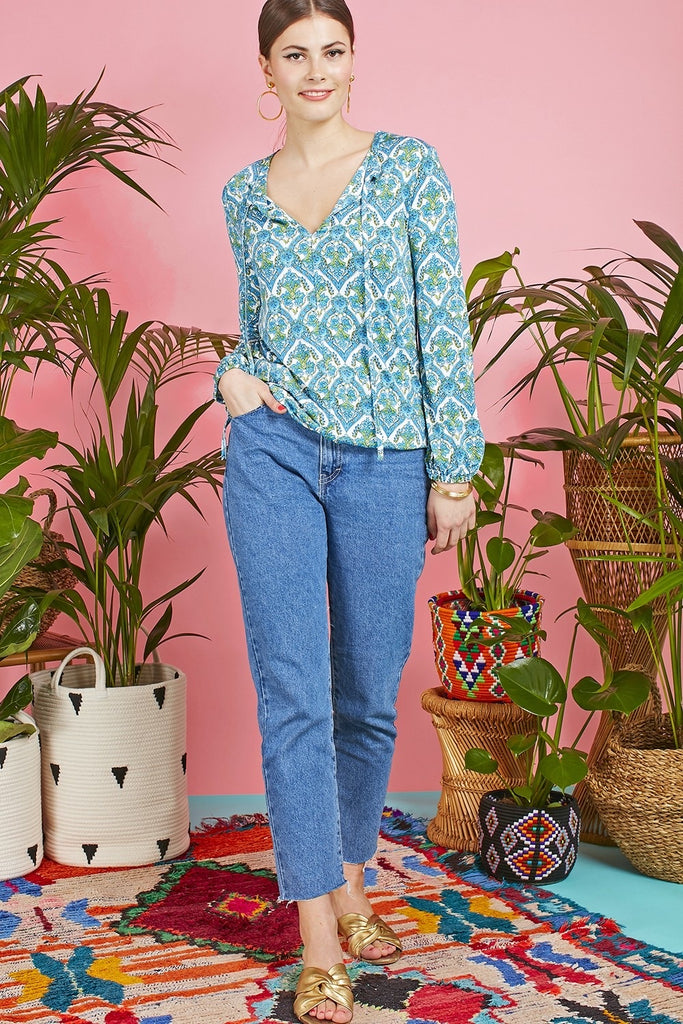 Alice Top in Hera Blue