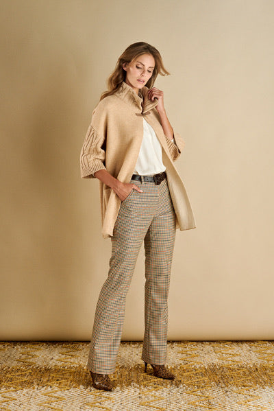 Beige Cardigan With Buckle