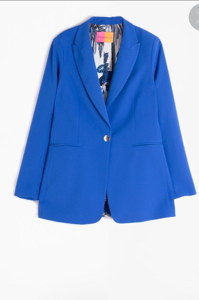 Katrina Blazer in Royal Blue