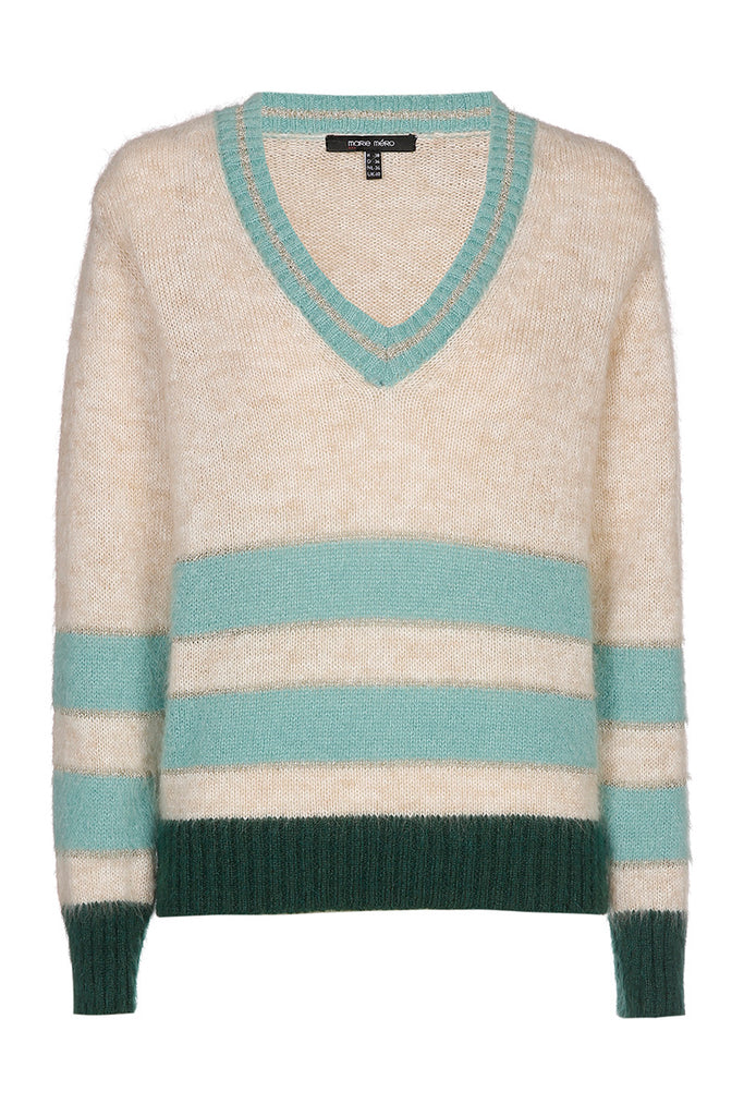 Beige and Green Sweater