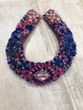 Large Collar - Pink Blue & Multicoloured