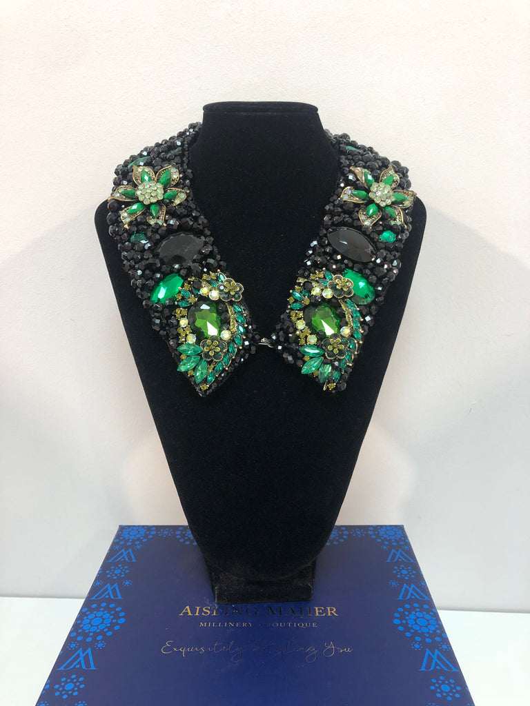 Large Collar - Black & Green