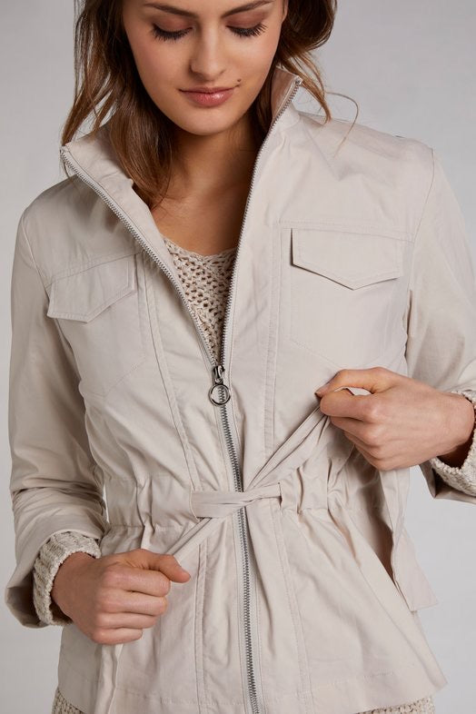 Nude Rainjacket with Tie at the Waist