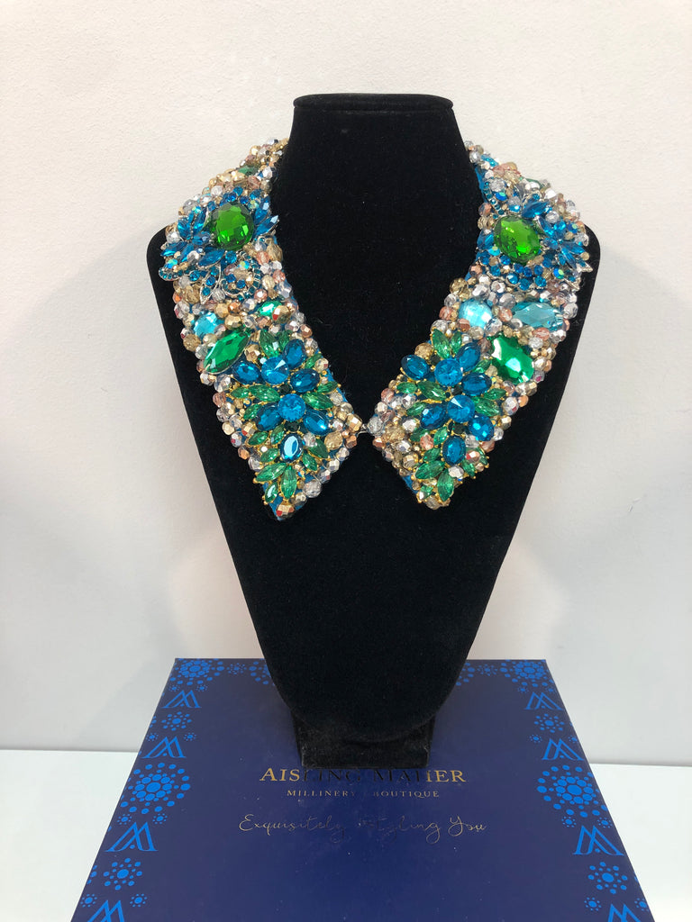 Large Collar - Green Blue & Aqua