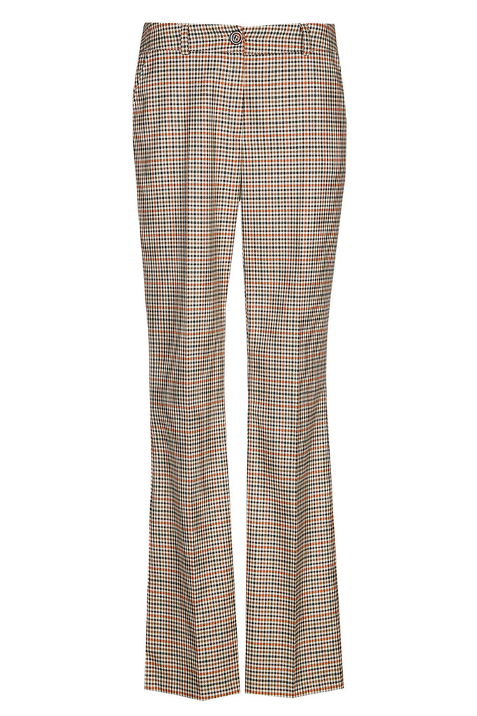 Checkered Trousers with Pleat at the Front