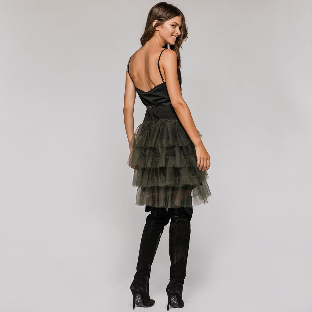Tulle Dress with Detachable Belt