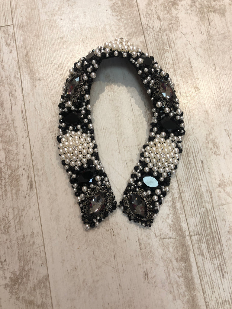 Large Collar - Black Pearl