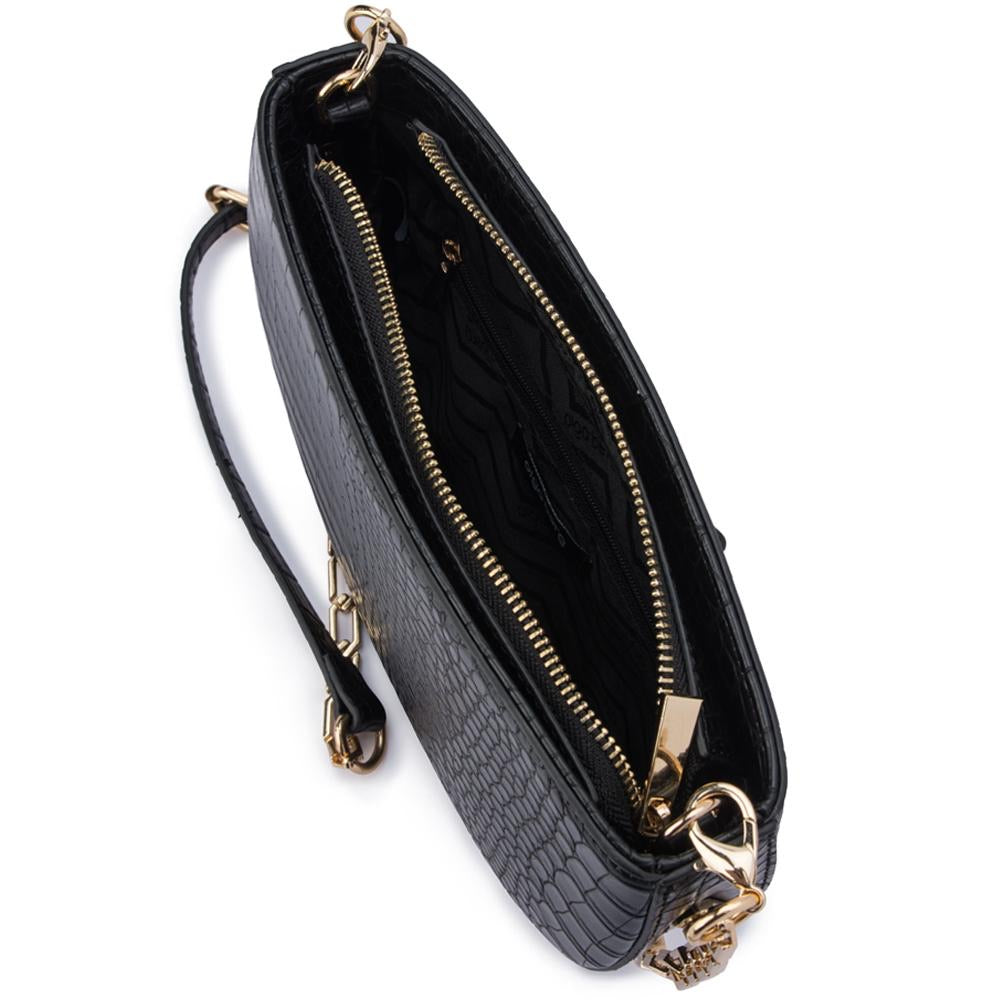 Riley Black Croc Bag