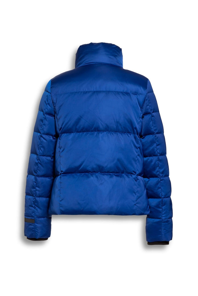 Sporty Down Filled Jacket in Cobalt Blue