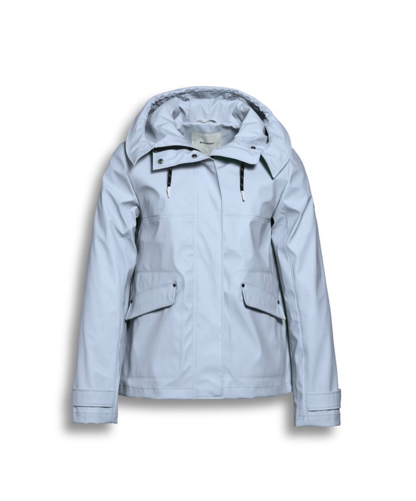 Short Hooded Rain Jacket