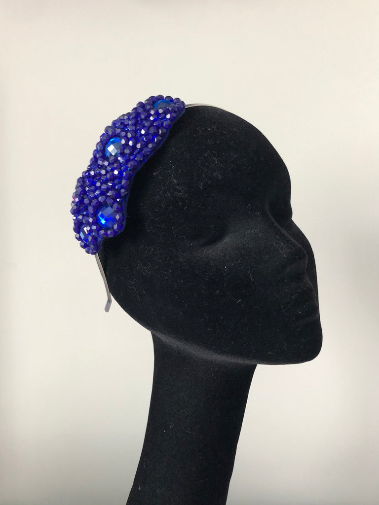 Plumeria Headpiece in Royal Blue