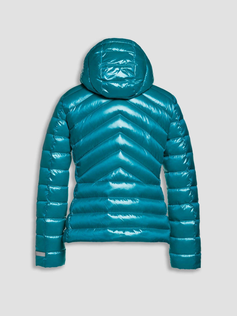 Teal Puffa with Detachable Hood