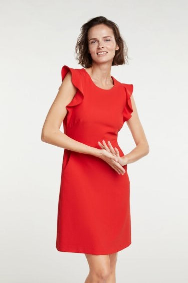 Tailored Dress with Ruffles