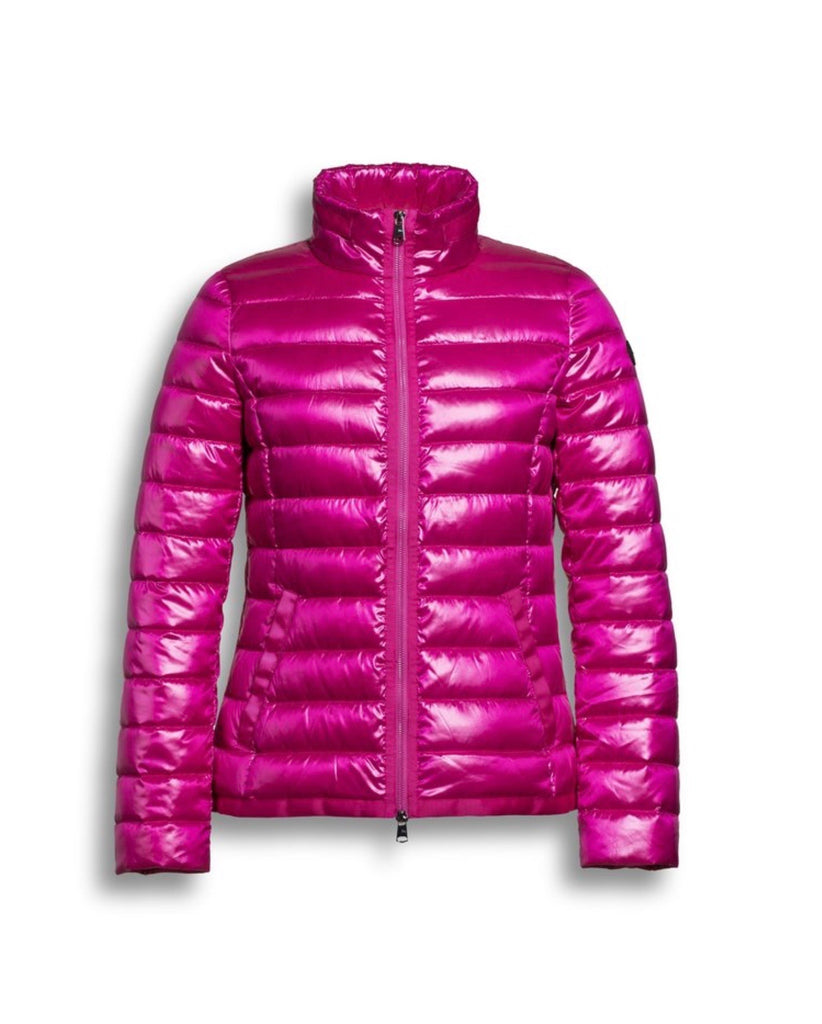 Short Rib Tape Puffer Jacket
