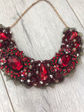 Small Collar - Burgundy Red with a touch of Gold