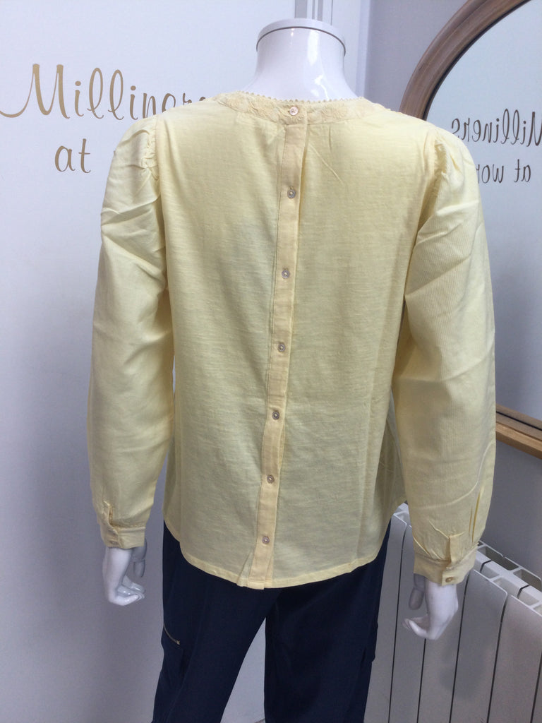 Pale Yellow Embroidered Blouse