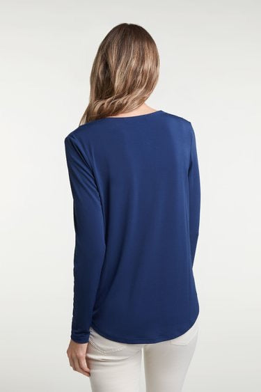 Wrap Effect Long Sleeved Top