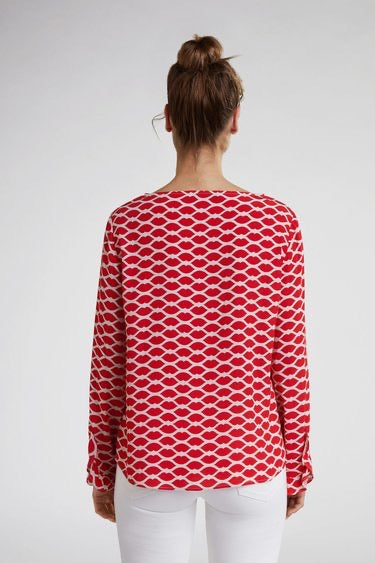 Diamond Lip Print Top