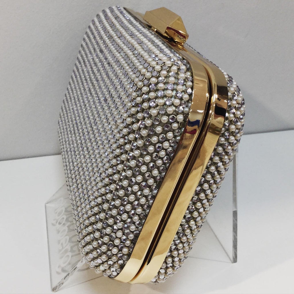 Klara Clutch Bag in Pearl