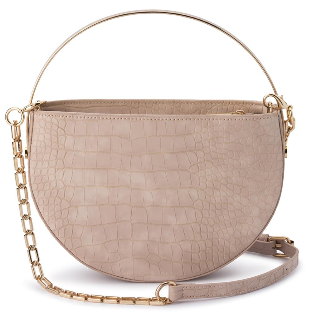 Riley Beige Croc Bag