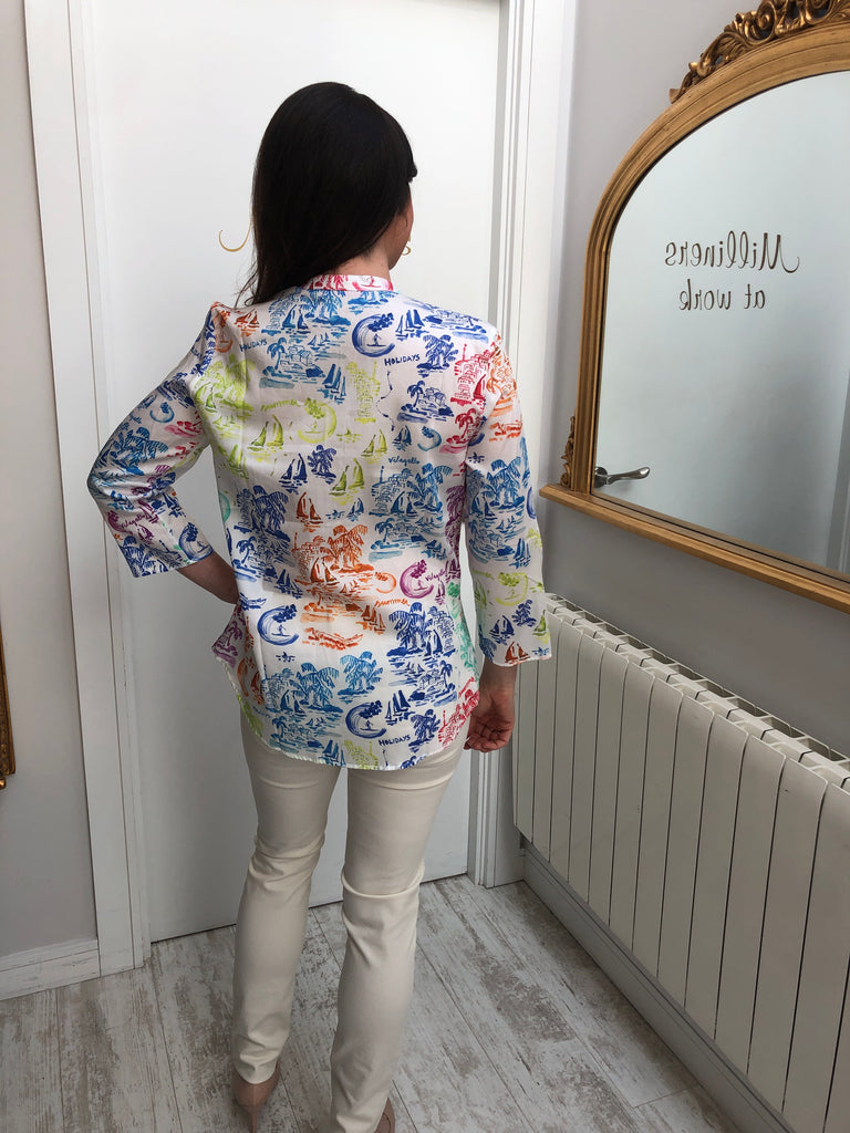 Martha Blouse in Amalfi Print