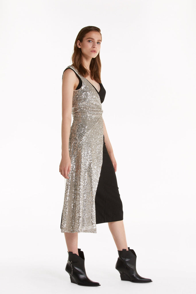 Cocktail Dress with Sparkly Layer