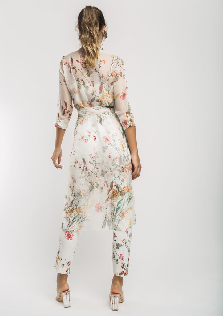 Cream Floral Trousers