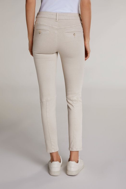 Beige Trousers with Studs