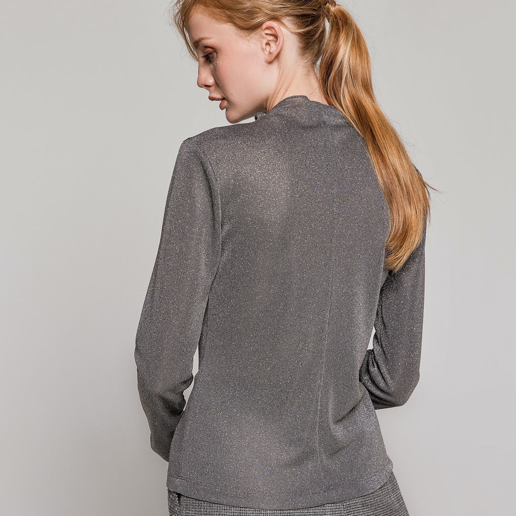 Sparkle High Neck Lightweight Sweater