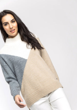 Chunky Knit in Cream, Beige and Grey