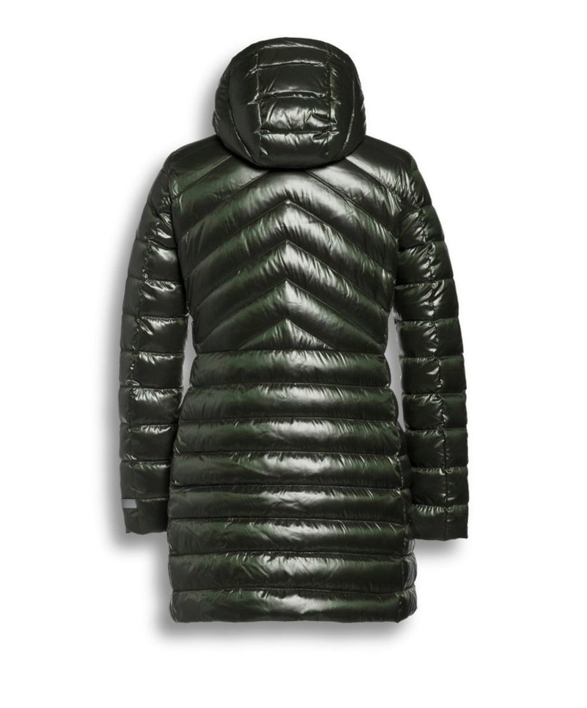 Green Fitted Puffa Coat