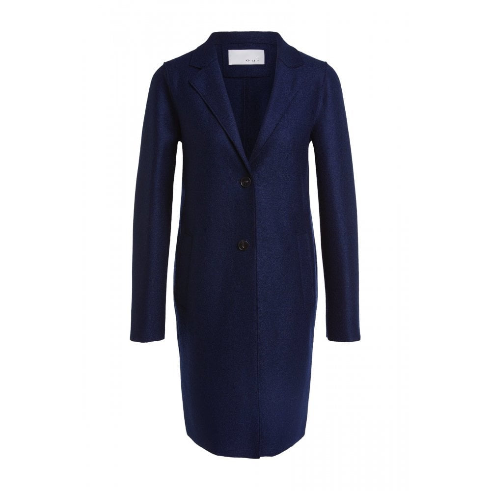 Wool Blend Lightweight Coat