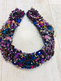 Large Collar - Purple Blue & Multicoloured