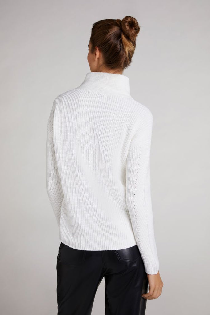 Cream Knit Polo