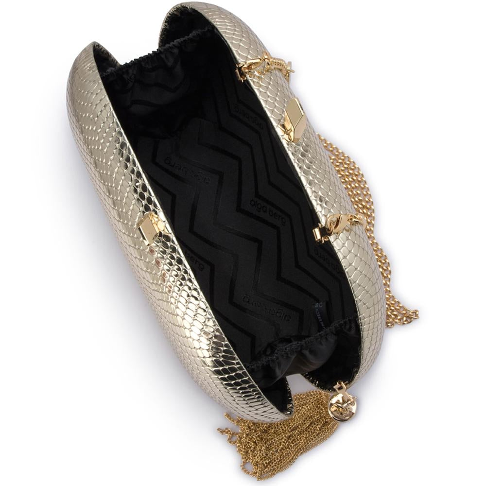Gold Medusa Snake Textured Bag