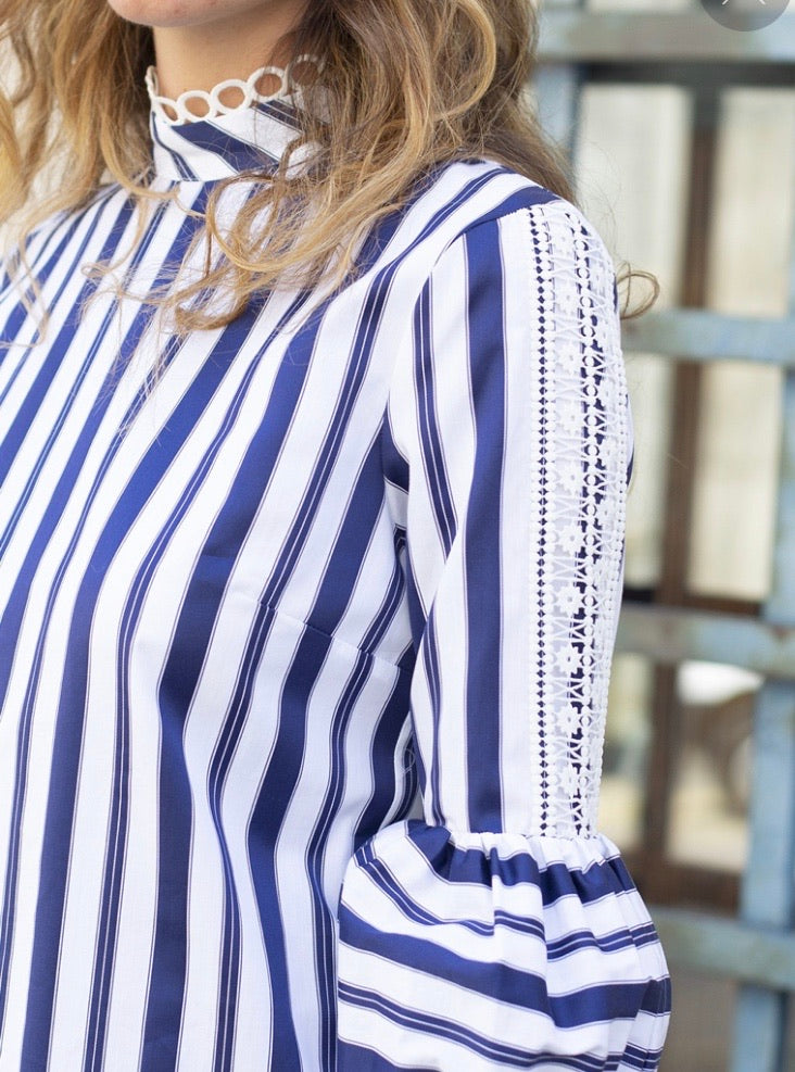 Lola Shirt in Blue Stripe